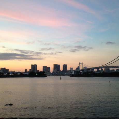 Cotton Candy Skies over Odaiba